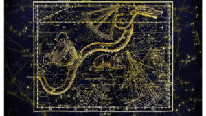 an image of the constellations in the sky, outlining all the zodiac signs positions