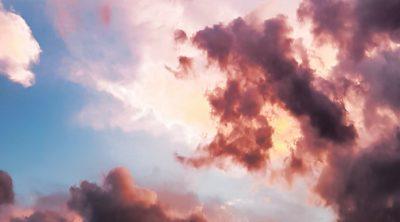 Purple clouds in the sky