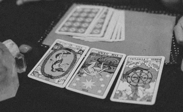 A three-card tarot spread