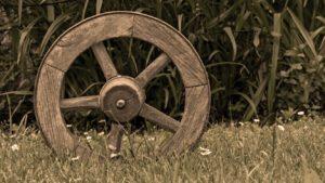 Image of wooden wheel