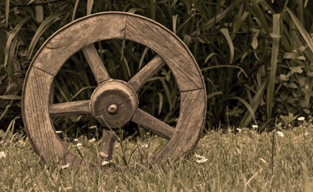 Image of wooden wheel